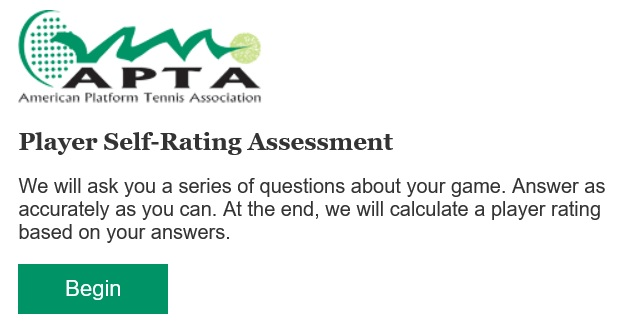 APTA Self-Rating Tool